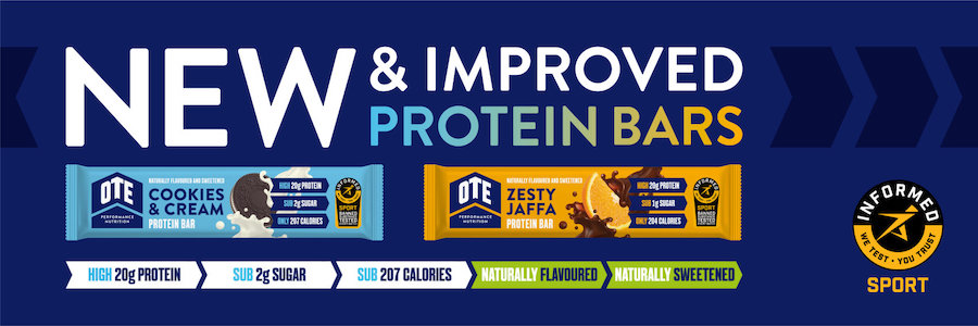 Qual a melhor barra de proteína? É esta da OTE Sports à venda na 4moove