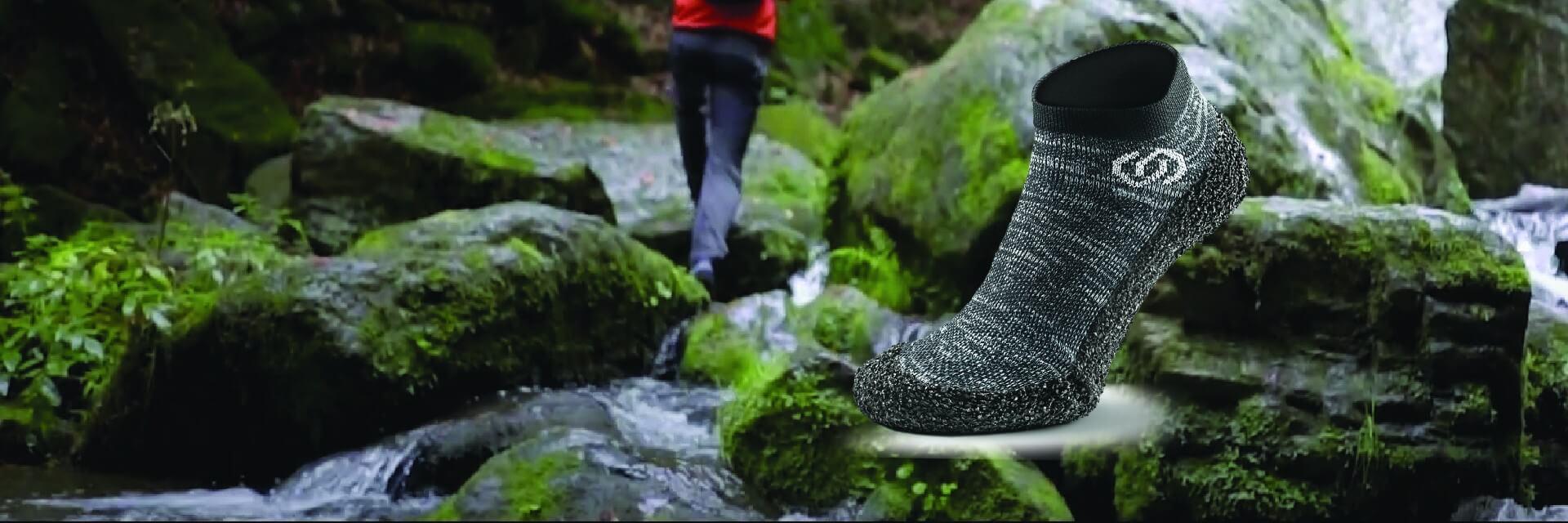 Skinners barefoot meias como sapatilhas