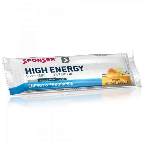 Sponser High Energy Alperce/Baunilha Barra 45g
