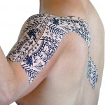 Dynamic Tape Tape Biomecánica Preto Tattoo 5cm x 5cm