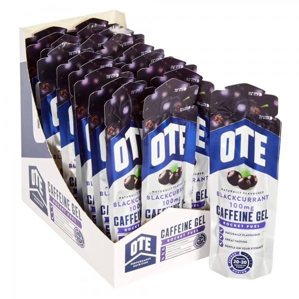 OTE Caixa de Géis Energéticos com 100mg cafeína sabor groselha negra (20 géis de 56g)