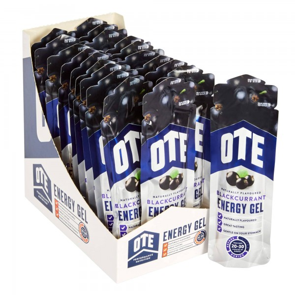 OTE Caixa de Géis Energéticos sabor Groselha Negra (20 géis de 56g)