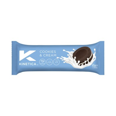 Kinetica Barra de Proteína Deluxe Cookies and Cream 45g