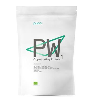 Puori PW1 - Proteína Whey Orgânica 900g (chocolate preto)