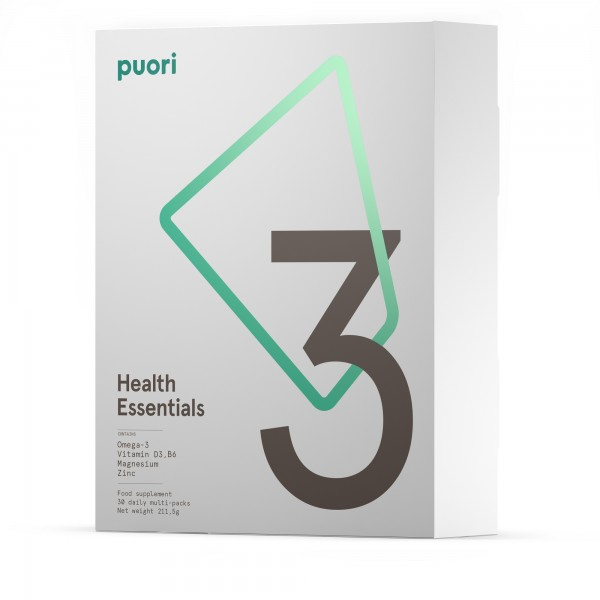 Puori P3 - Pack Multinutrientes Essenciais (ómega 3 + magnésio + vitamina D3) 30 dias