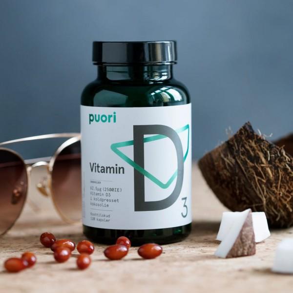 Puori D3 - Vitamina D3 (2500 UI) (120 cápsulas)