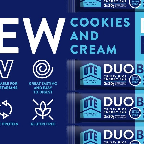 OTE Duo Bar Cookies and Cream 12 x 65g
