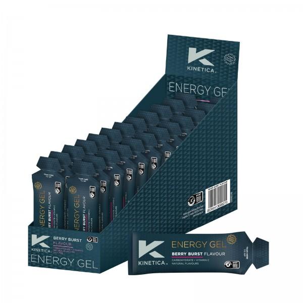 Kinetica Caixa de Géis Energéticos com sabor a Frutos Silvestres (24 géis de 70ml)