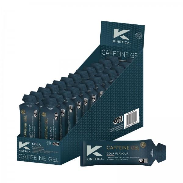 Kinetica Caixa de Géis Energéticos com Cafeína Sabor Cola (24 géis de 70ml)