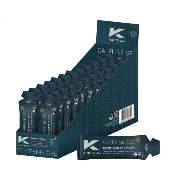 Kinetica Caixa de Géis Energéticos com Cafeína Sabor Frutos Silvestres (24 géis de 70ml)