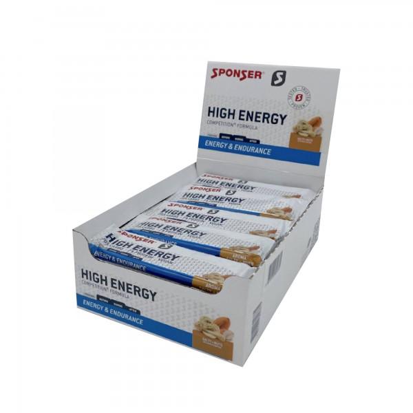 Sponser Caixa de Barra Enegética High Energy Salty+Nuts (30 Barras de 45g)
