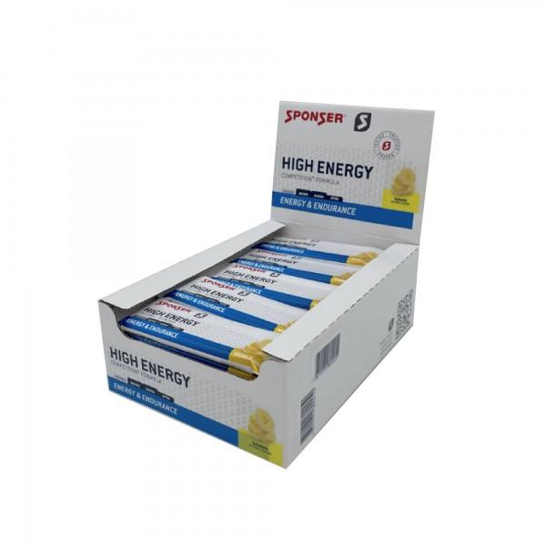Sponser Caixa de Barras Enegética High Energy Banana (30 Barras de 45g)