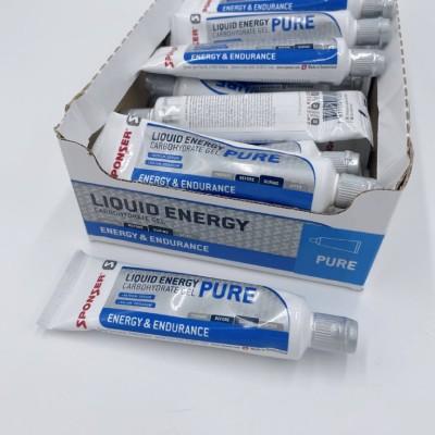 Sponser Caixa de Géis Energéticos Liquid Energy Pure (20 Géis de 70g)