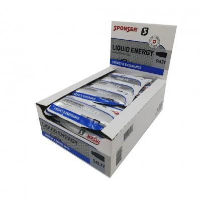 Sponser Caixa de Géis Energéticos Liquid Energy Salty (40 géis de 35g)
