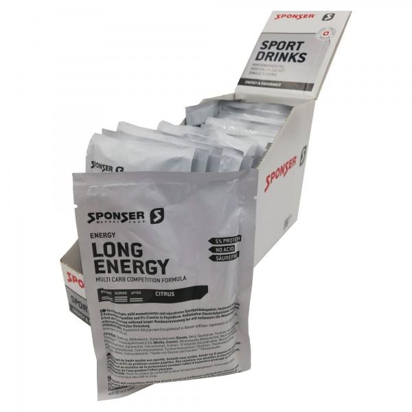 Sponser Caixa de Bebida Desportiva Long Energy Limão (20 saquetas de 60g)