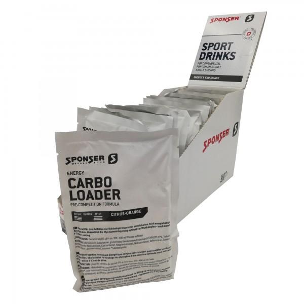 Sponser Caixa de Bebida Energética Carbo Loader Limão/Laranja (15 saquetas de 75g)