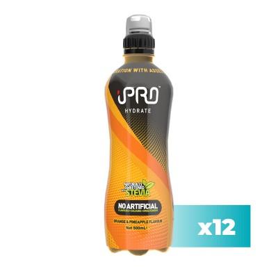 Pack 12x - Bebida Hidratante iPRO HYDRATE Sport Sabor Laranja e Ananás - 500ml