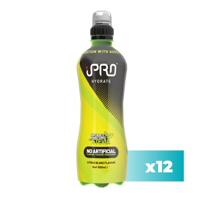 Pack 12x - Bebida Hidratante iPRO HYDRATE Sport Sabor Citrinos - 500ml