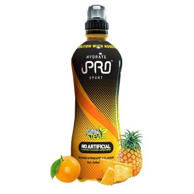 Bebida Hidratante iPRO HYDRATE Sport Sabor Laranja e Ananás - 500ml