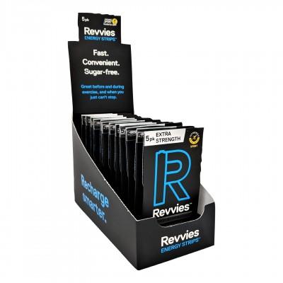 Revvies Tiras Energéticas Arctic Charge Extra Forte 100mg cafeína (12x5 Pack)