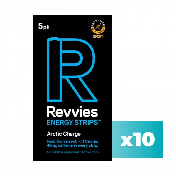 Revvies Tiras Energéticas Arctic Charge 40mg cafeína (10x5 Pack)