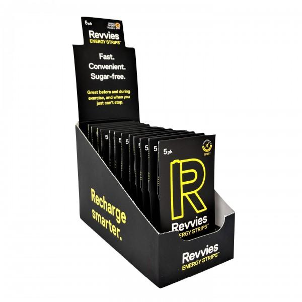 Revvies Tiras Energéticas Cola Limão 40mg cafeína (12x5 Pack)