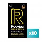 Revvies Tiras Energéticas Cola Limão 40mg cafeína (10x5 Pack)