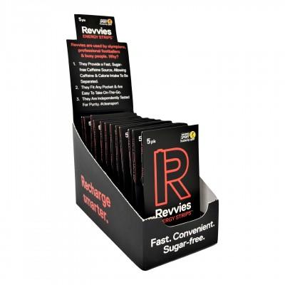 Revvies Tiras Energéticas Tropical Hit Charge 40mg cafeína (12x5 Pack)