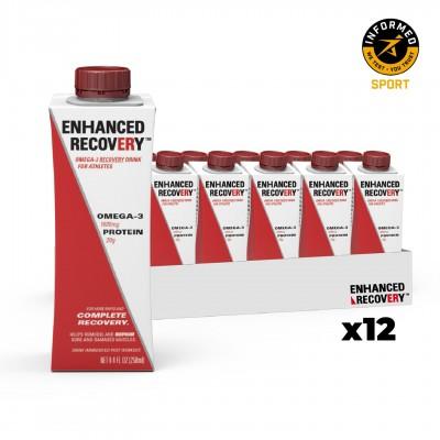 12x ENHANCED RECOVERY Bebida de Recuperação com Ómega-3