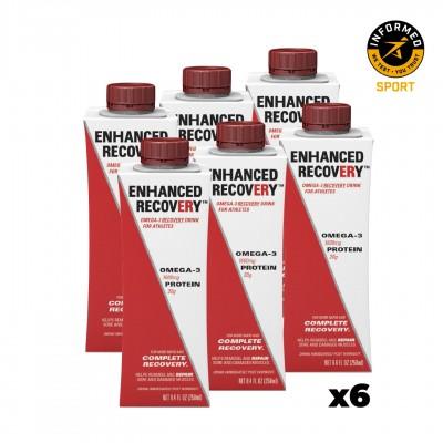 6x ENHANCED RECOVERY Bebida de Recuperação com Ómega-3