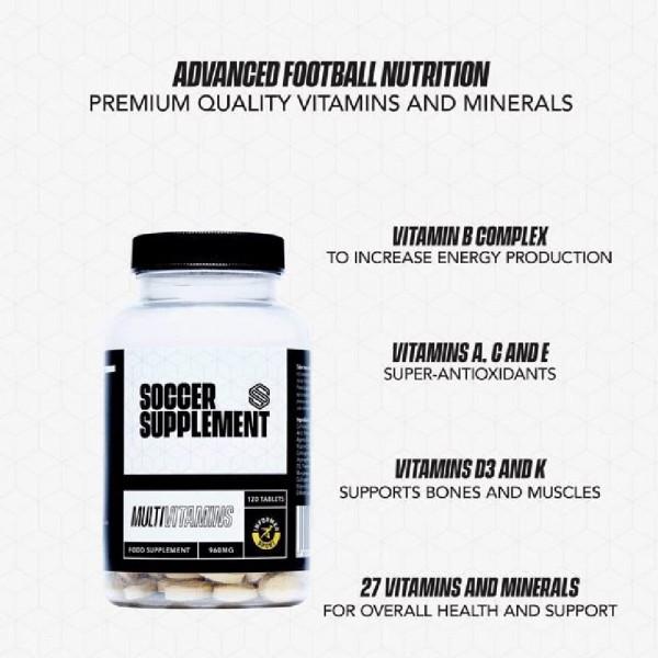 Soccer Supplement Multivitaminas 120 comprimidos