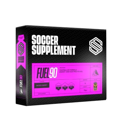 Soccer Supplement Gel Energético Fuel90 Frutos Vermelhos (caixa 12 géis)