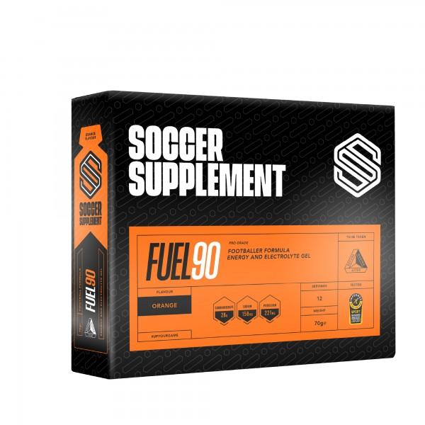 Soccer Supplement Gel energético Fuel90 Laranja (caixa 12 géis)