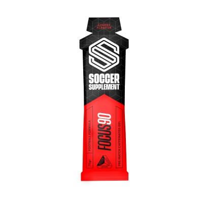 Soccer Supplement Gel energético pré-jogo com Cafeína Focus90 Cereja