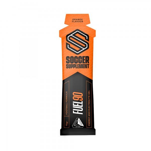 Soccer Supplement Gel energético Fuel90 Laranja