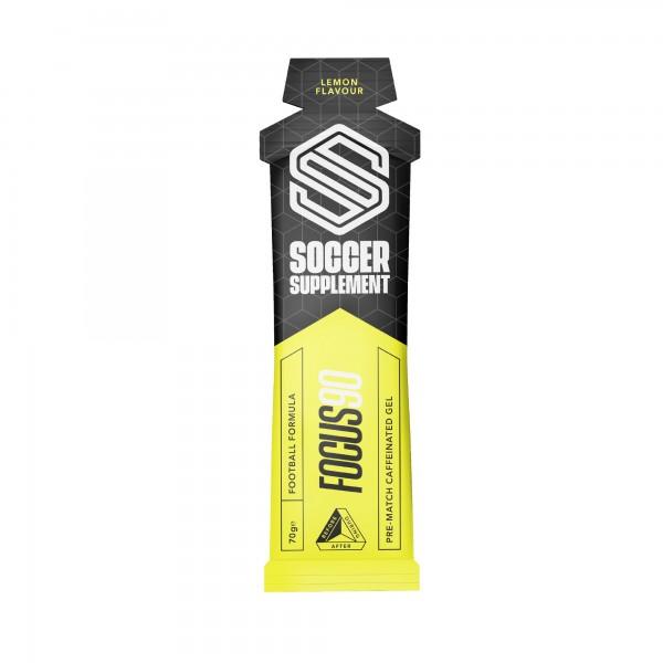 Soccer Supplement Gel energético pré-jogo com Cafeína Focus90 Limão