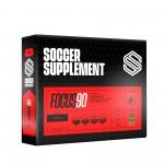 Soccer Supplement Gel energético pré-jogo com cafeína Focus90 Cereja (caixa 12 géis)