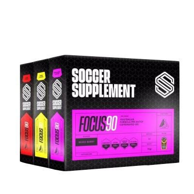 Soccer Supplement PACK 3 Caixas Gel energético com Cafeína Focus90