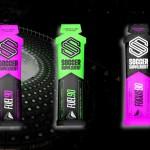 Soccer Supplement Gel energético pré-jogo com cafeína Focus90 Limão (caixa 12 géis)